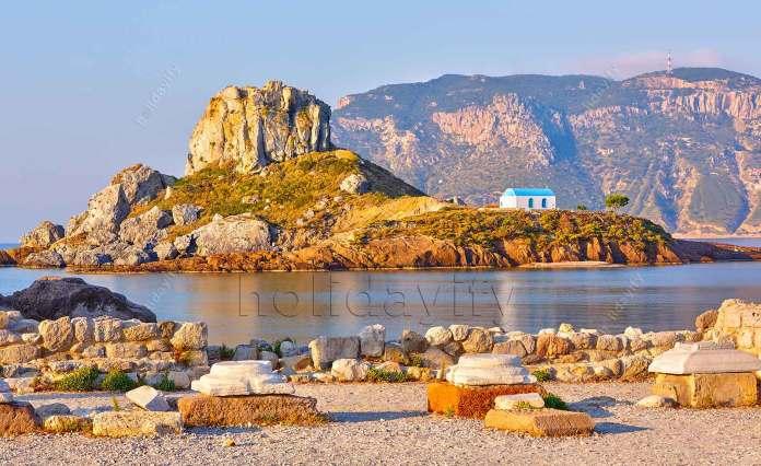 Little island Kastri near Kos, Greece