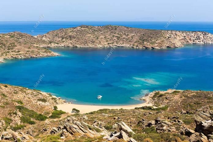 Mylopotas plajı, Ios adası, Kiklad adaları, Ege, Yunanistan