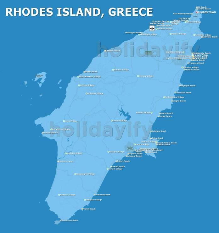 Rodos Haritası, Yunanistan