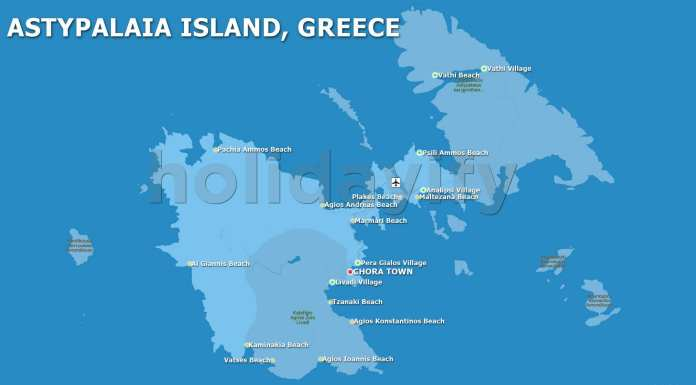 Map of Astypalea, Greece