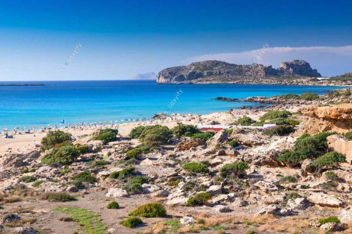 Falassarna beach on Crete island