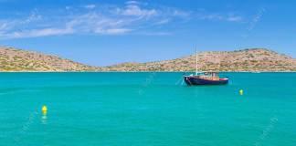 Fishing boats at the coast of Crete