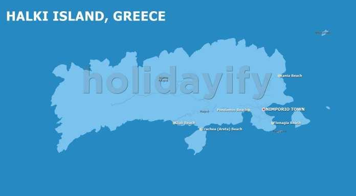 Halki island Map