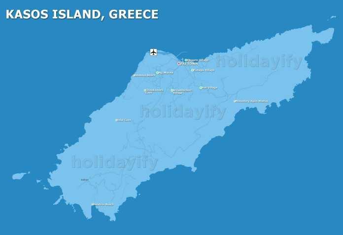 Kasos Map, Kassos, Greece