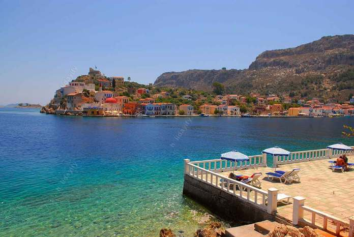 Beaches of Kastelorizo, Mandraki, Greece