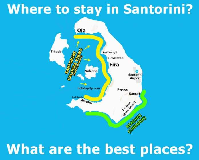 Where to stay in Santorini?