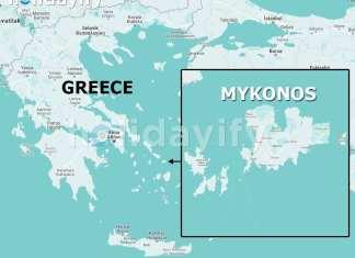 Map of Mykonos, Where is Mykonos?