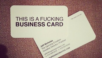 The art of the business card holiday matinee a business card that trumps all business cards colourmoves
