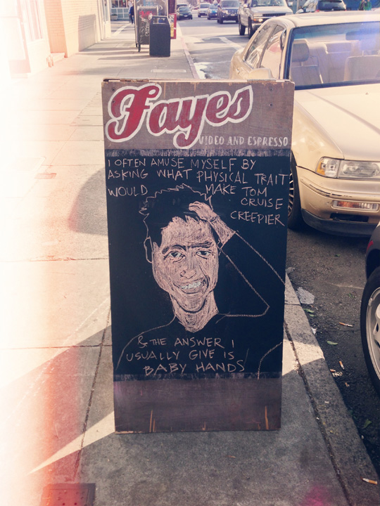 Sandwich Board in San Francisco