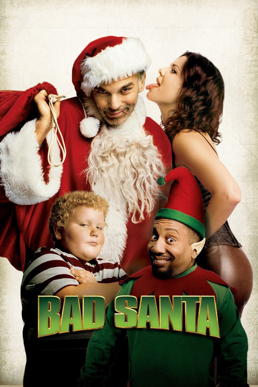 "Poster for the movie ""Bad Santa"""