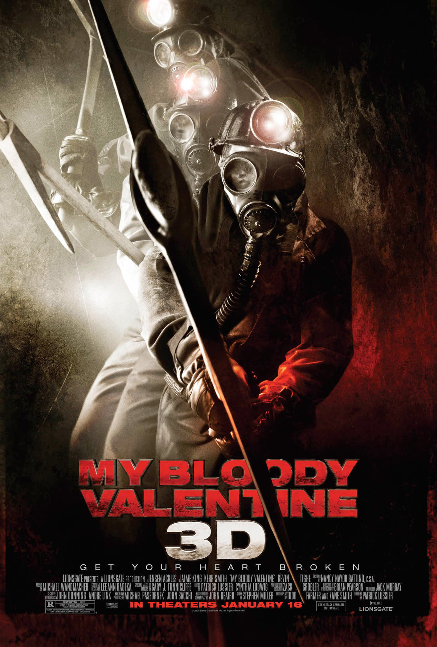 """Poster for the movie """"My Bloody Valentine"""""""