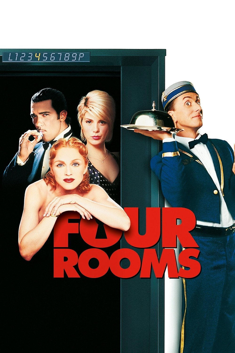 """Poster for the movie """"Four Rooms"""""""