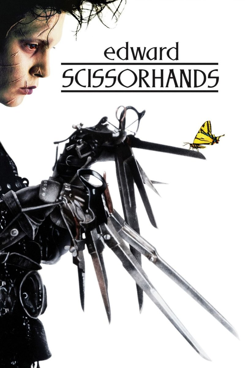 "Poster for the movie ""Edward Scissorhands"""