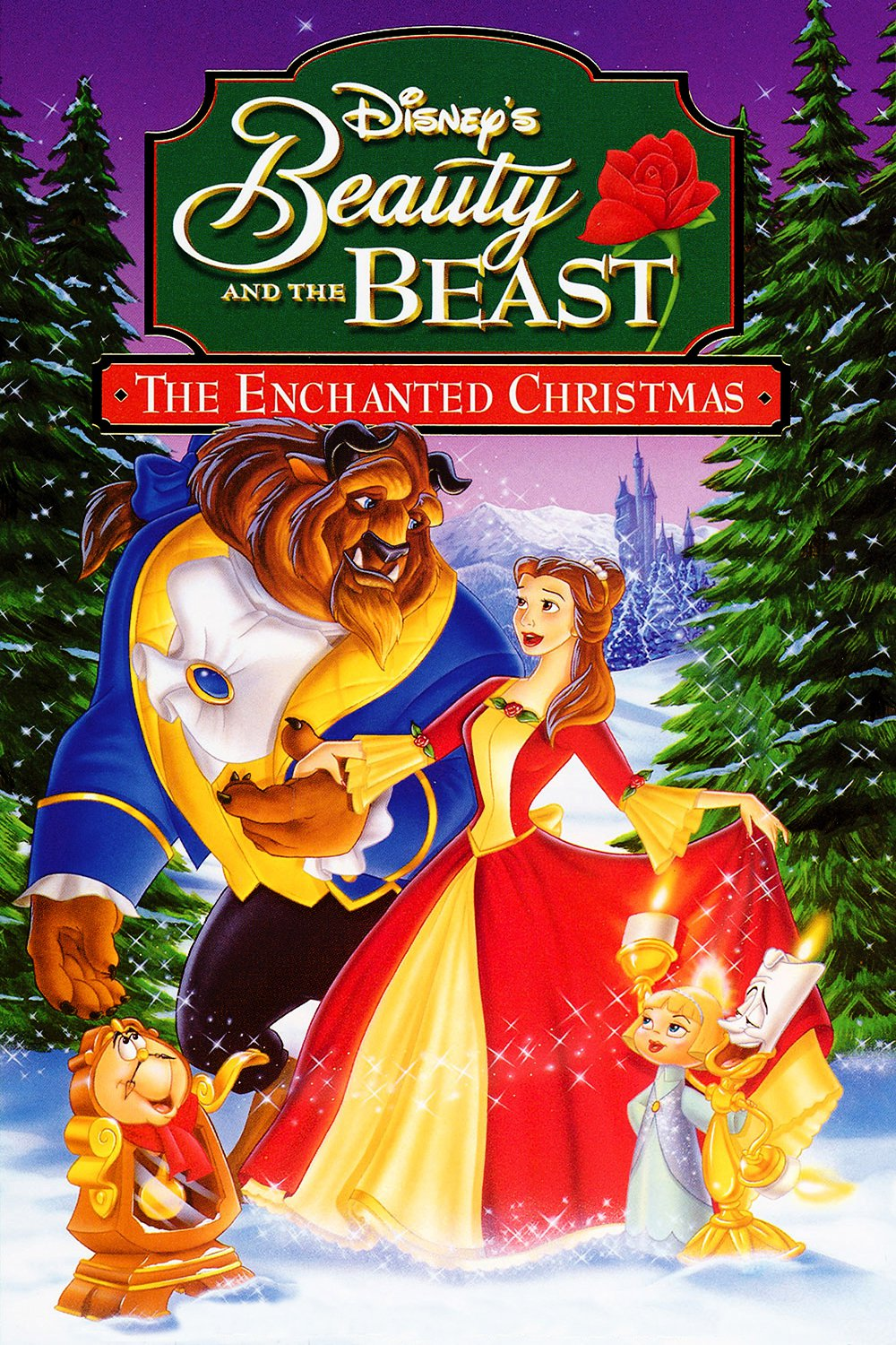 """Poster for the movie """"Beauty and the Beast: The Enchanted Christmas"""""""