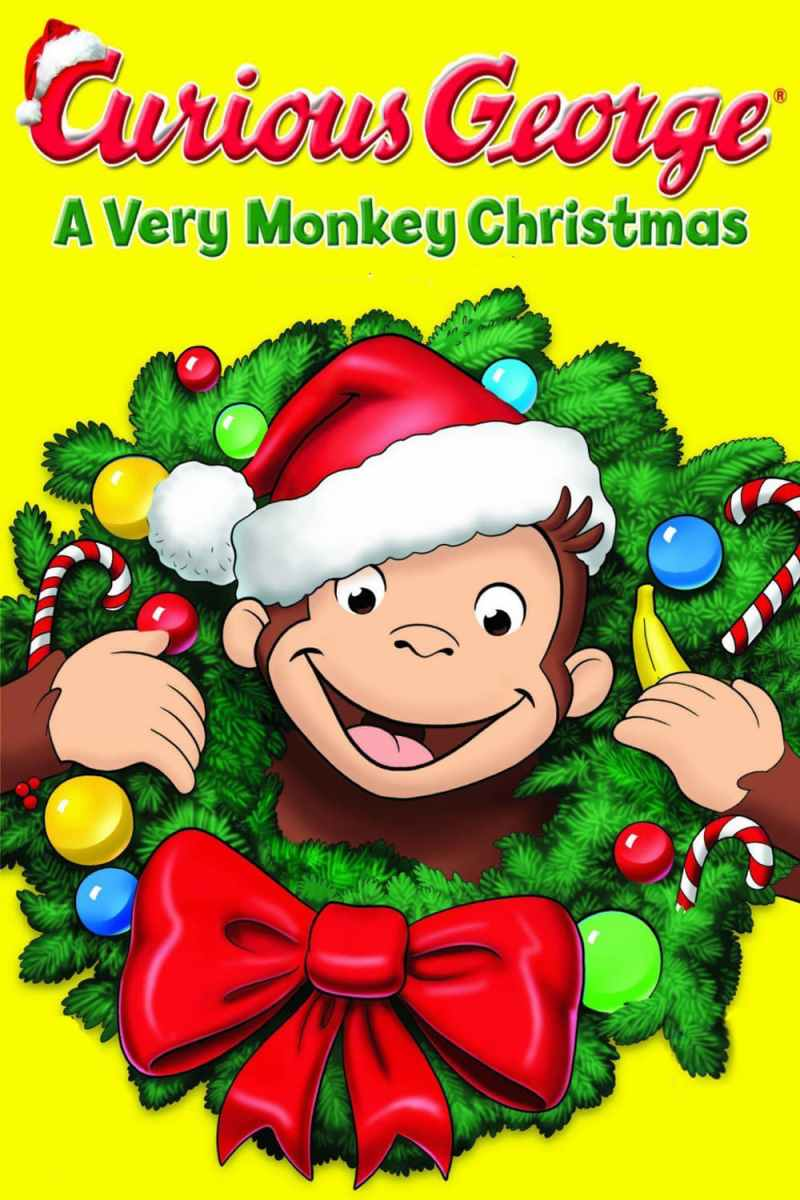 "Poster for the movie ""Curious George: A Very Monkey Christmas"""