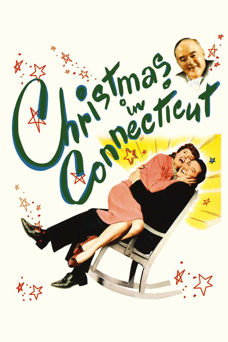 "Poster for the movie ""Christmas in Connecticut"""