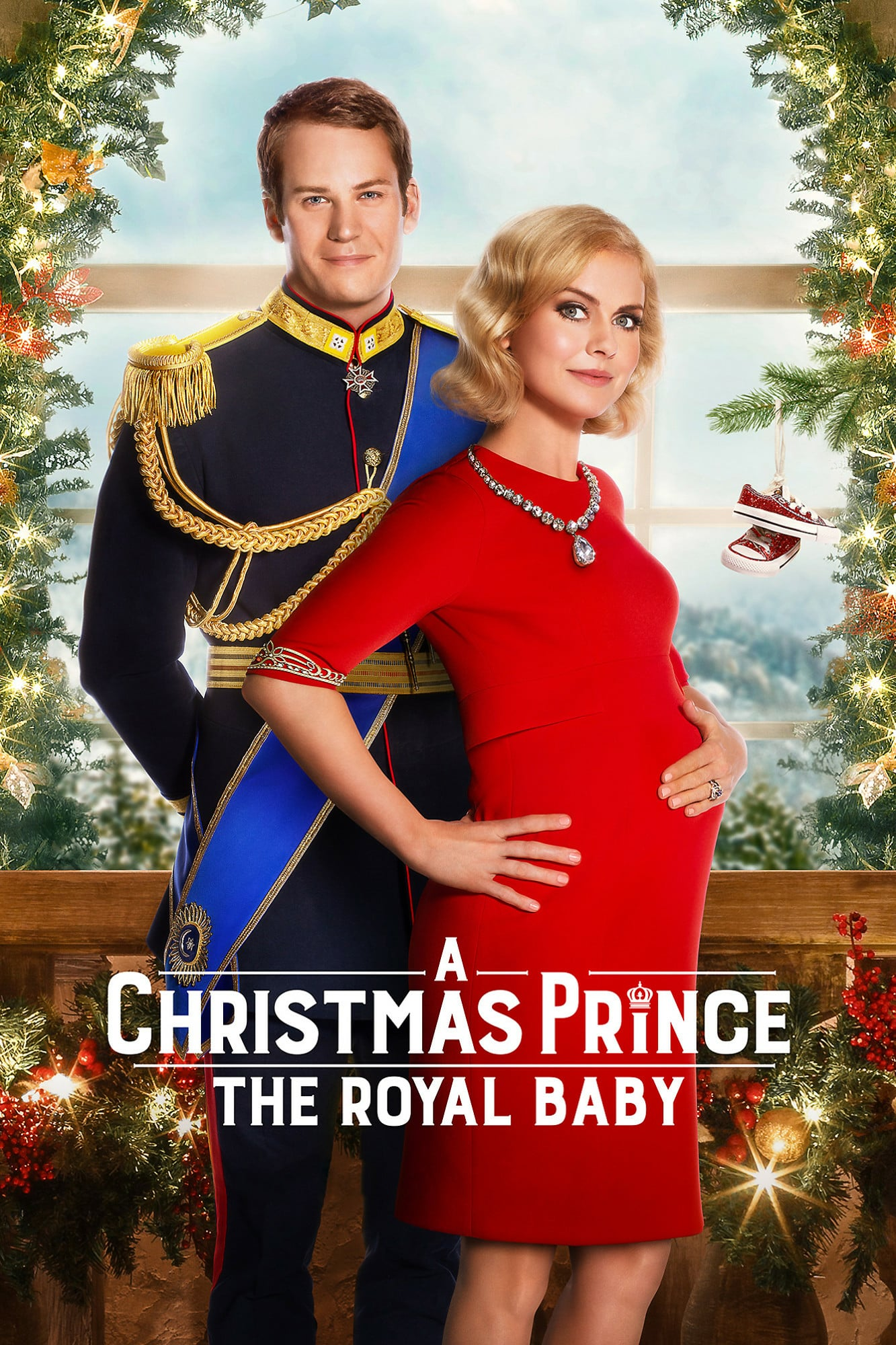 "Poster for the movie ""A Christmas Prince: The Royal Baby"""