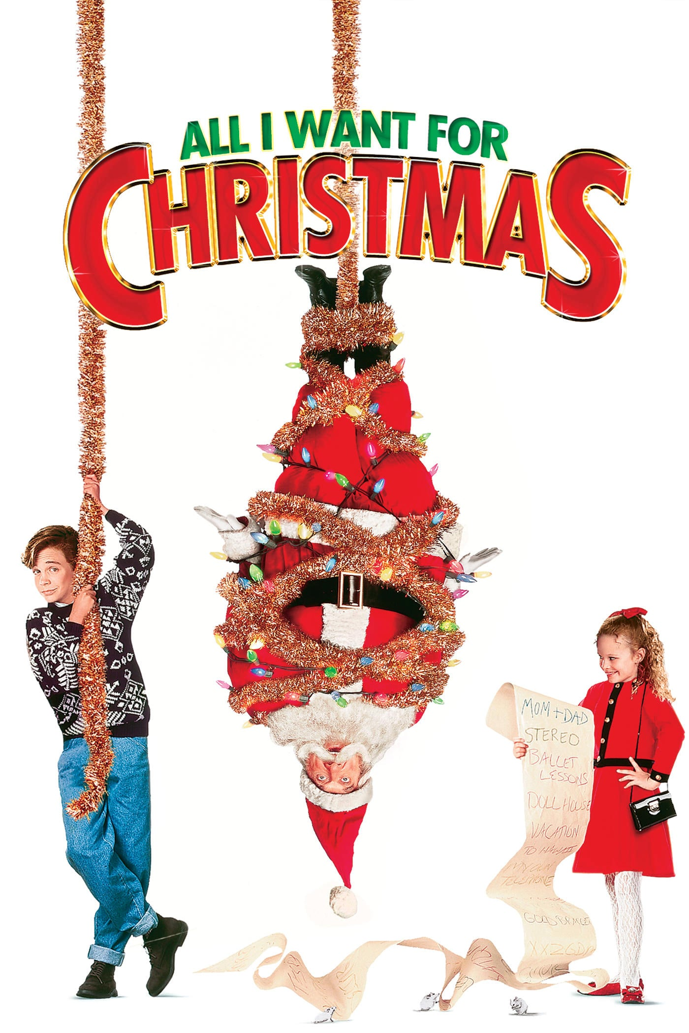 "Poster for the movie ""All I Want for Christmas"""