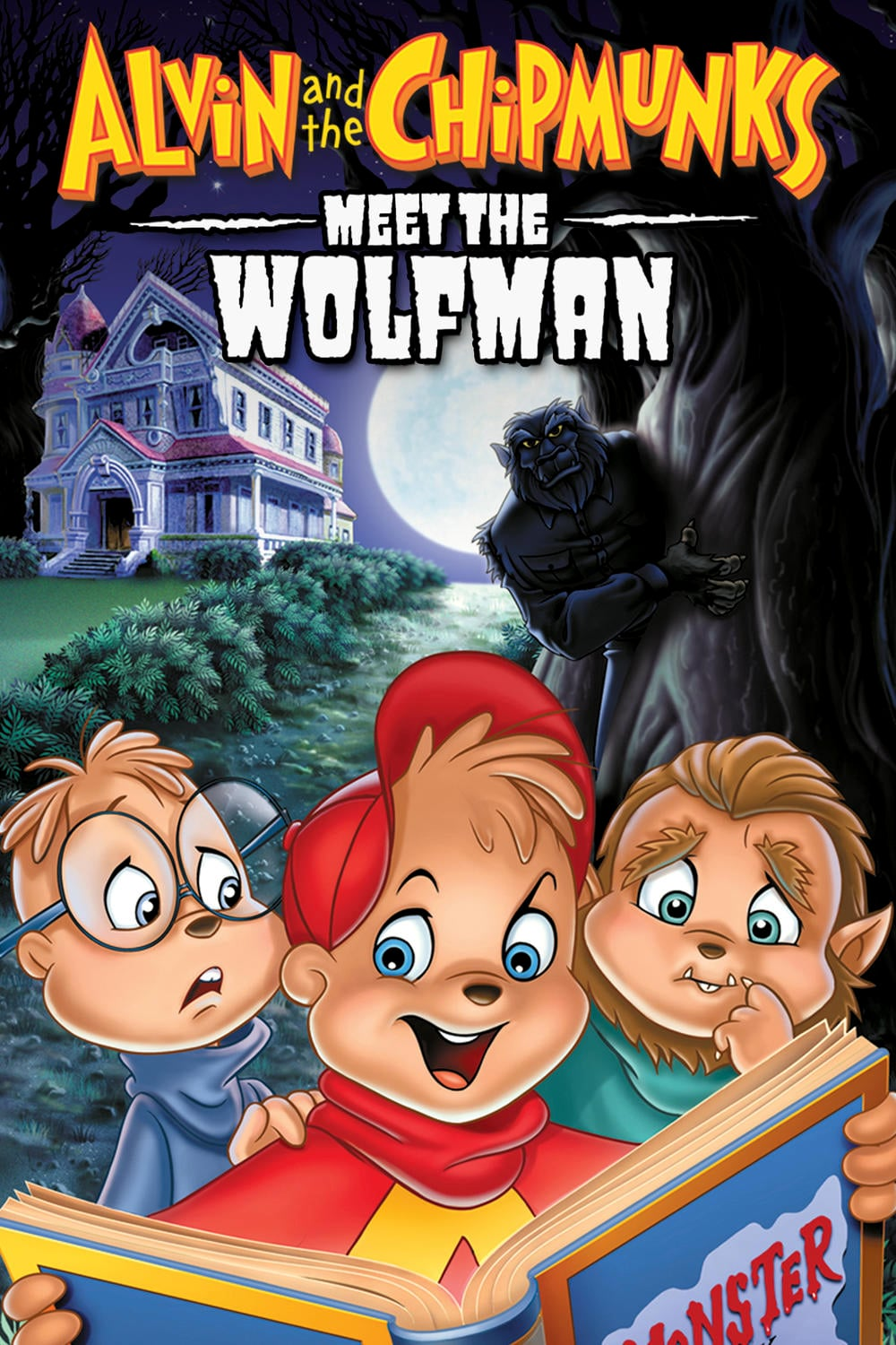 "Poster for the movie ""Alvin and the Chipmunks Meet the Wolfman"""