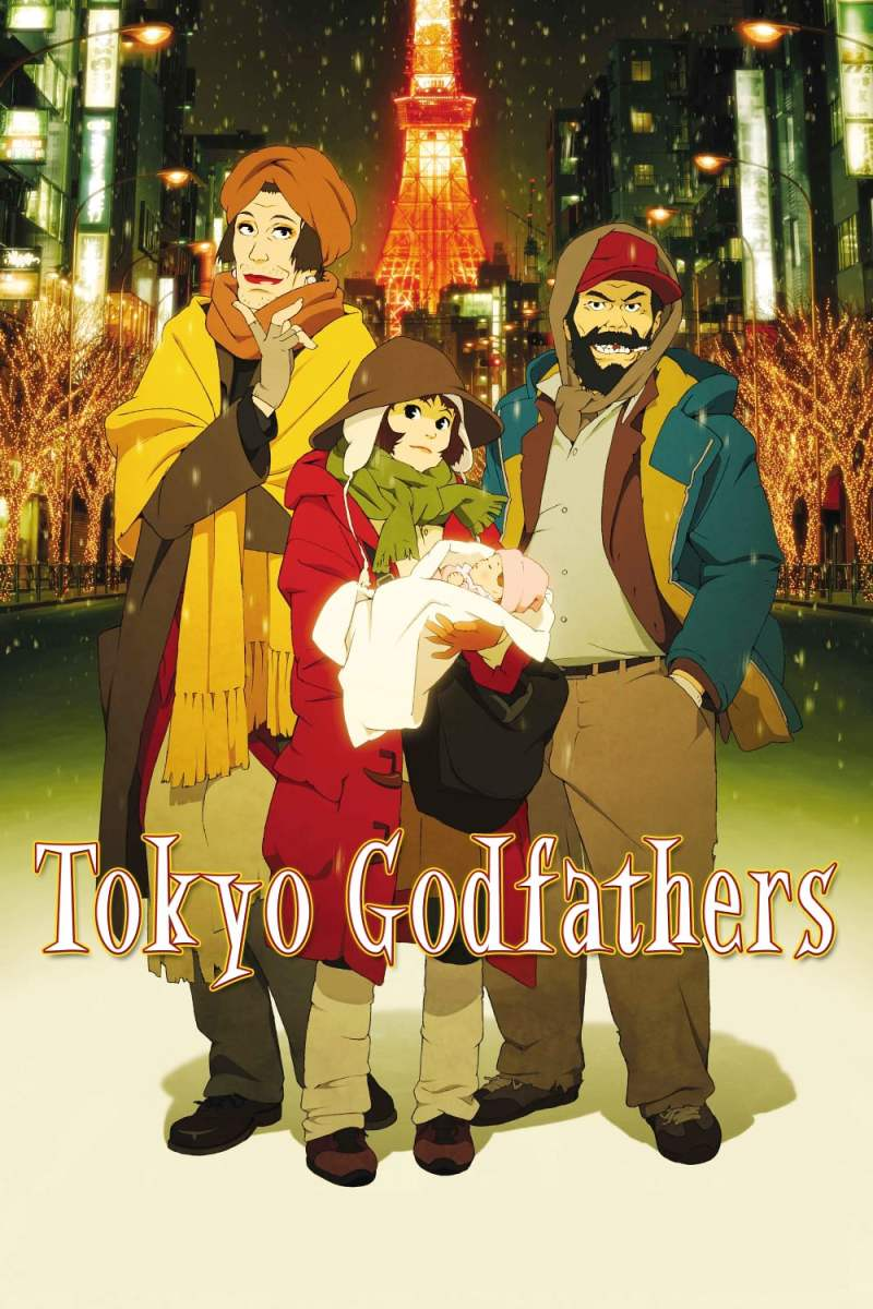 "Poster for the movie ""Tokyo Godfathers"""