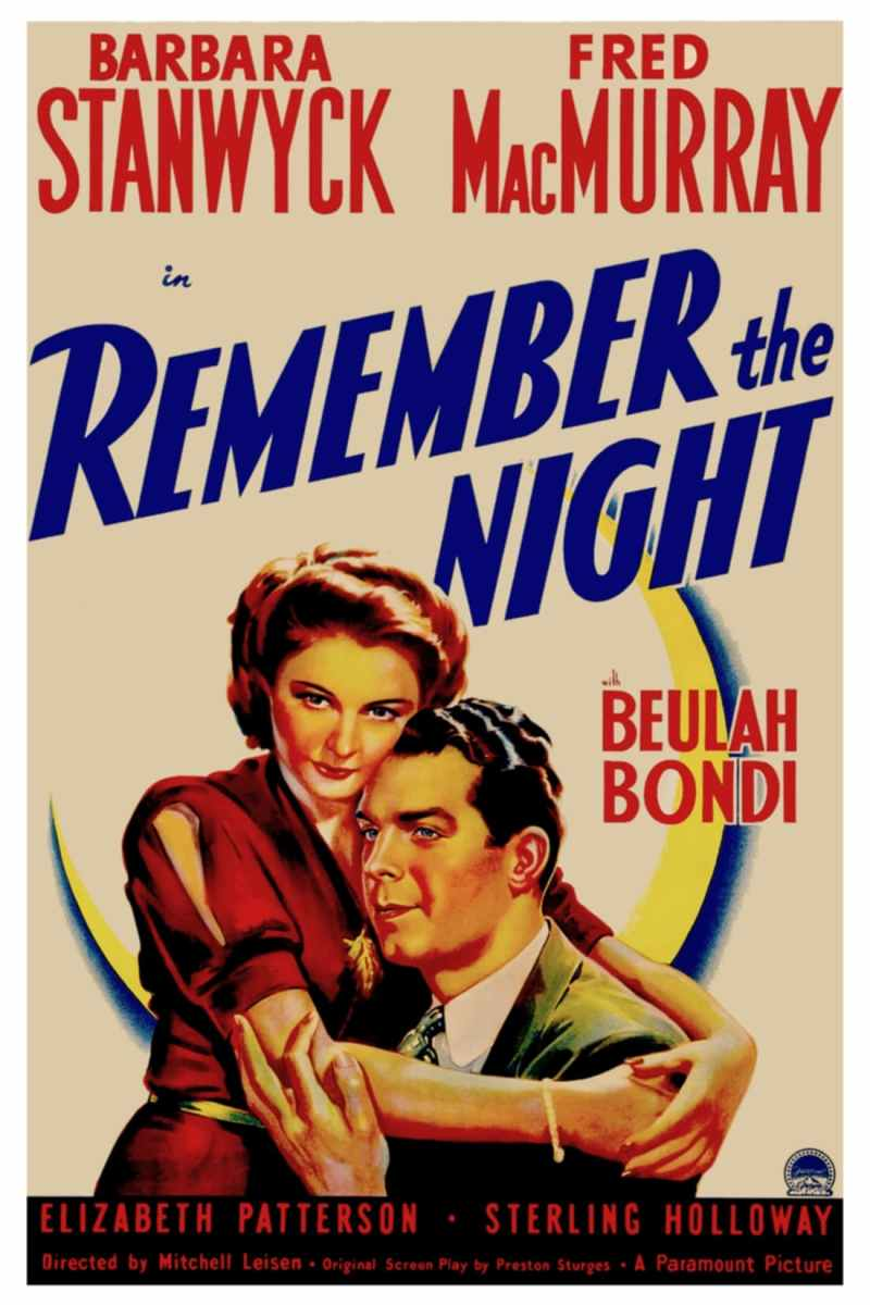 "Poster for the movie ""Remember the Night"""