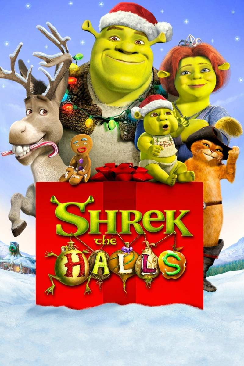 "Poster for the movie ""Shrek the Halls"""