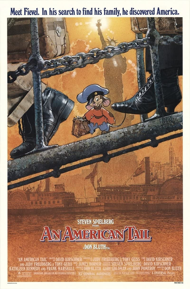 "Poster for the movie ""An American Tail"""