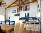 Aurae Cawdor Inverness log cabin kitchen dining area