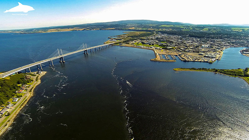 Aerial view of Beauly Firth