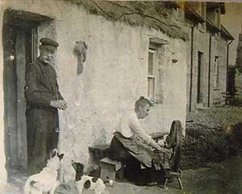 Tigh na Beargh, c.1920's The spelling of the house has been anglified over the years and should really be spelt Tigh-na-Beart meaning house of the loom, but the Royal Mail and the RBS don't recognise this traditional spelling, so I am stuck with Tigh na Beargh.