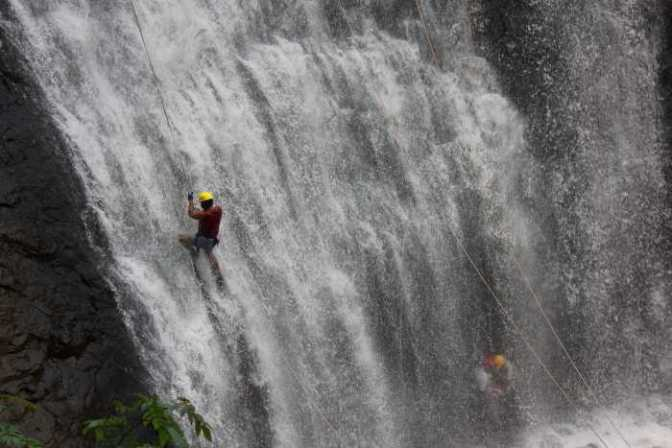 Waterfall Rappelling in Coorg, Tourist Places in South India