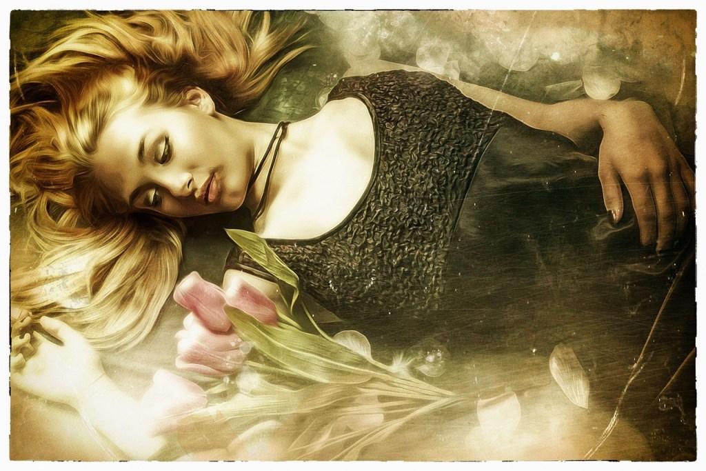 woman sleeping relaxing sleep music