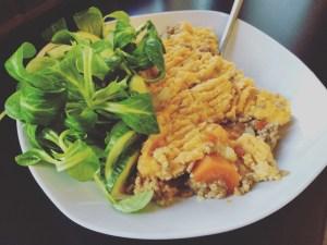 Schäferkuchen mit Salat
