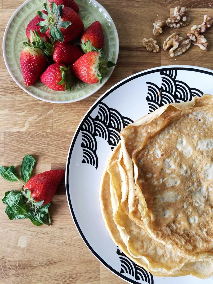 Glutenfreie Protein-Crepes ohne Mehl