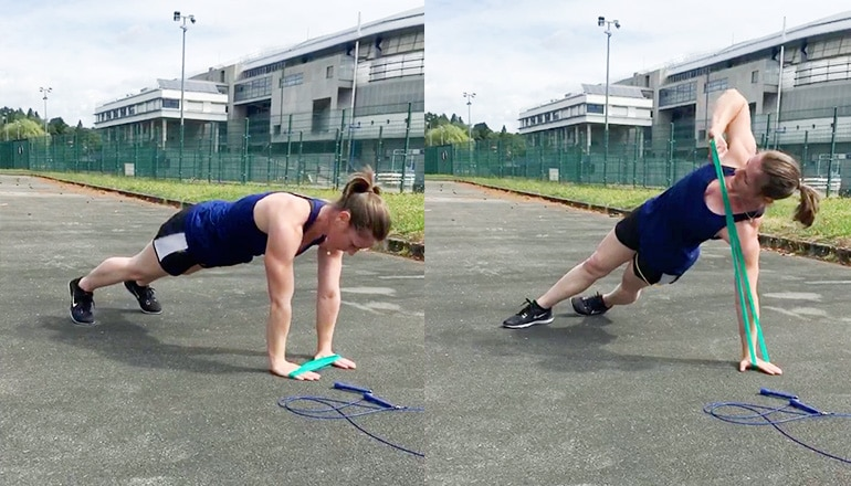 Planke & Rotation mit Miniband