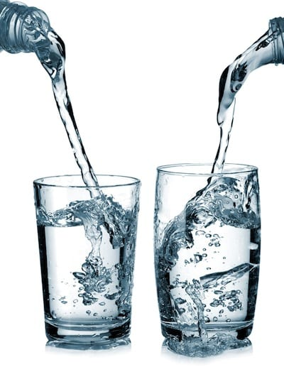 water in glasses Cactus water versus coconut water