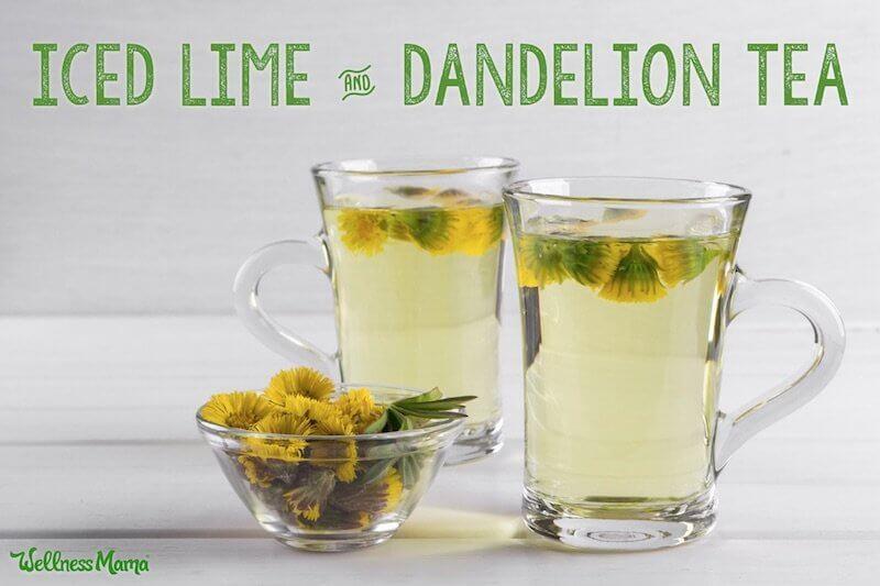 lime dandelion iced tea