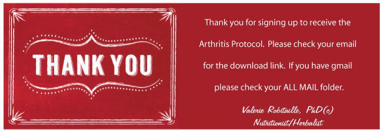 thank you arthritis Thank You! Your Arthritis Protocol