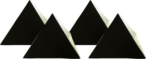 pyramids orgonite set of 4 Orgonite Total Family Defense System