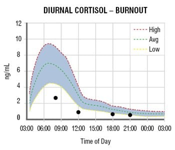 adrenal curve burnout Adrenal Stress Test