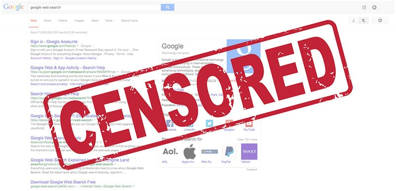 google censored search results ss 800 URGENT: Covid19 Cure / Medical Conference Censored by Facebook, Google/YouTube and Twitter