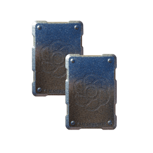 2 silver shields Orgonite Phone Shields