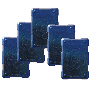 5 blue shields Orgonite Phone Shields