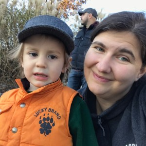 Kathy Zamora and son