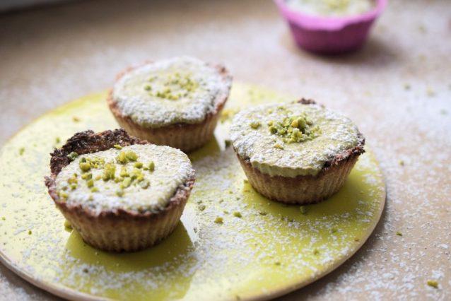 Quark-Matcha-Muffins Low Carb