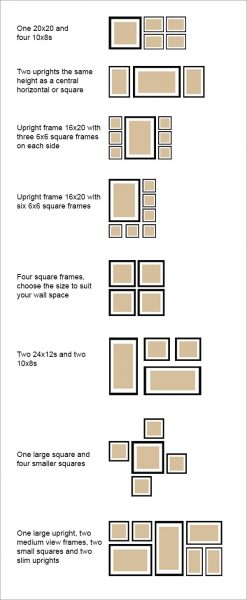 05. Picture wall layout examples