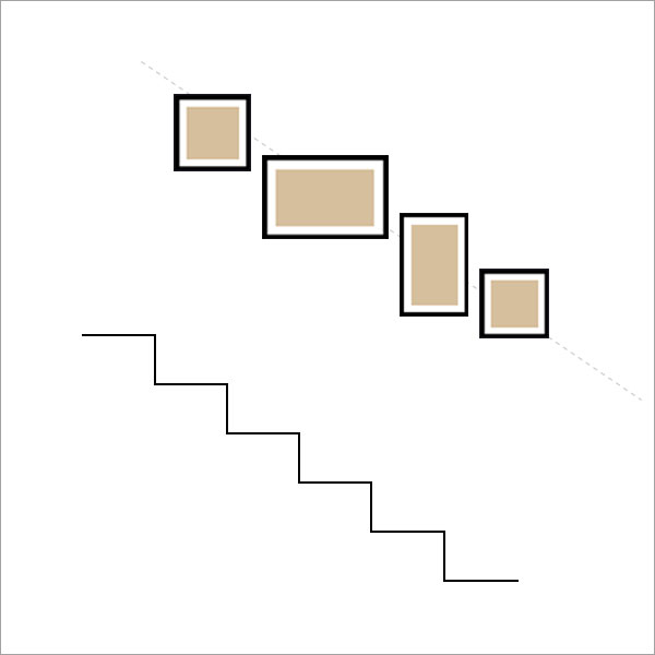 04. Picture wall stair layout