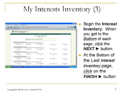 MCP Interest Inventory