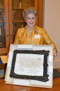 Elbrun E. Kimmelman, Directress General with the Govert Loockermans Land Patent.