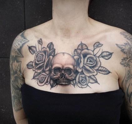 fine line black & gray tattoo